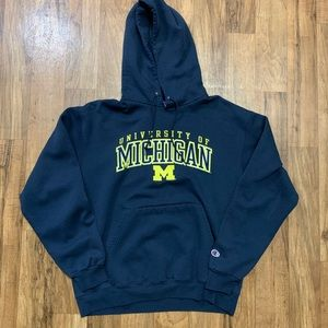 Champion Michigan Wolverines Hoodie Size L